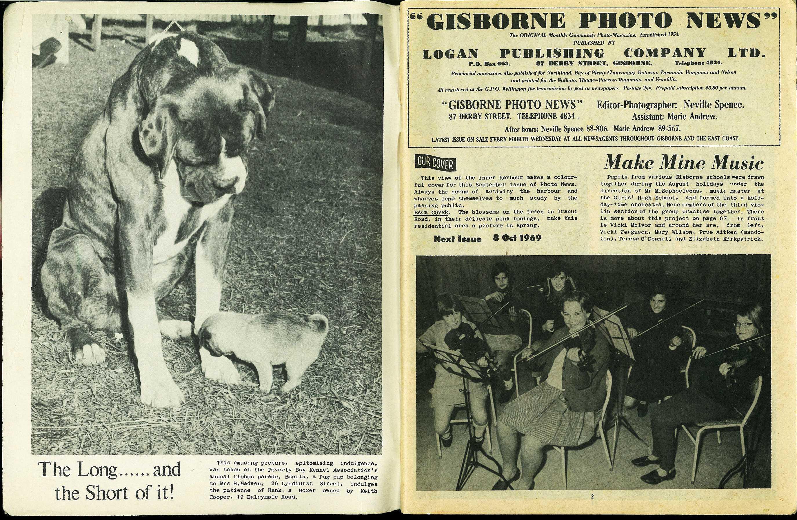 title page] - Gisborne Photo News - No 183 : September 10, 1969